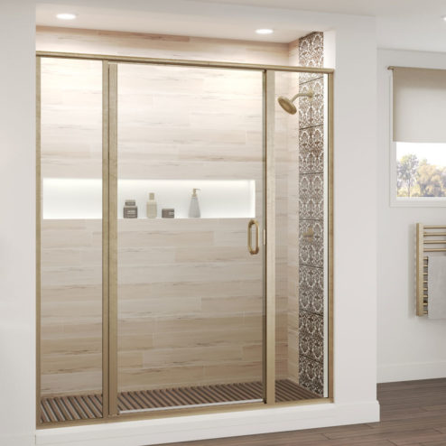 Infinity Semi-Frameless 1/4-inch Glass Panel Swing Door Panel Shower Door